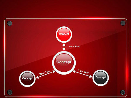 Glass Plate on Red Background PowerPoint Template Slide 14