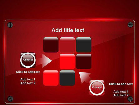 Glass Plate on Red Background PowerPoint Template Slide 16