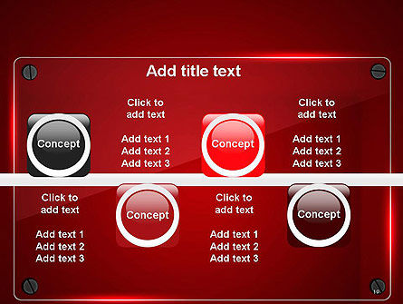 Glass Plate on Red Background PowerPoint Template Slide 19