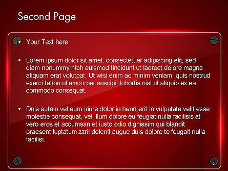Glass Plate on Red Background PowerPoint Template Slide 2