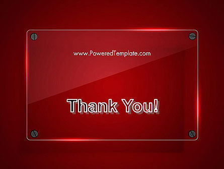 Glass Plate on Red Background PowerPoint Template Slide 20