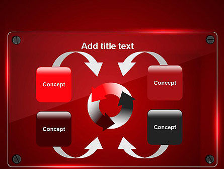 Glass Plate on Red Background PowerPoint Template Slide 6