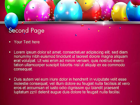 Colorful Balloons Festive PowerPoint Template, Slide 2, 14389, Holiday/Special Occasion — PoweredTemplate.com