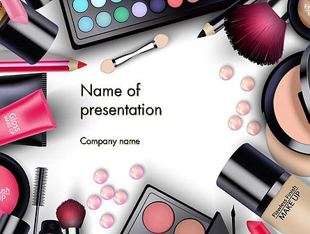 Sets Of Cosmetics Powerpoint Template Backgrounds 14390