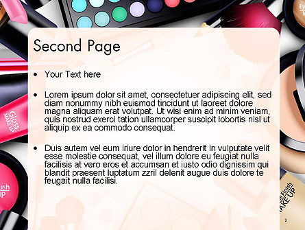 Sets of Cosmetics PowerPoint Template Slide 2