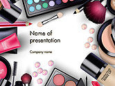 Careers/Industry: Sets of Cosmetics PowerPoint Template #14390
