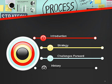 Process Action Activity Practice Procedure Task Concept PowerPoint Template, Slide 3, 14391, Consulting — PoweredTemplate.com