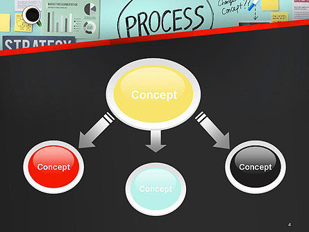 Process Action Activity Practice Procedure Task Concept PowerPoint Template, Slide 4, 14391, Consulting — PoweredTemplate.com