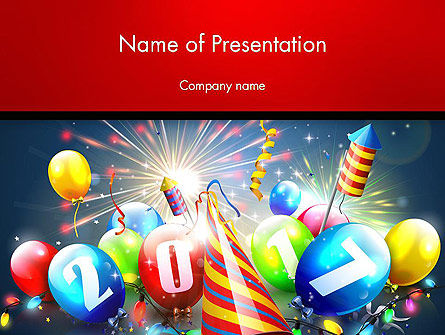 Happy New Year 2017 PowerPoint Template, 14392, Holiday/Special Occasion — PoweredTemplate.com