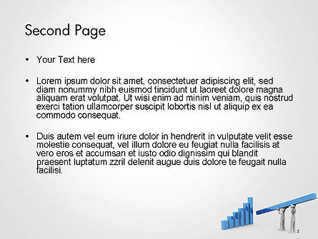 Teamwork to Financial Growth and Success PowerPoint Template, Slide 2, 14393, 3D — PoweredTemplate.com