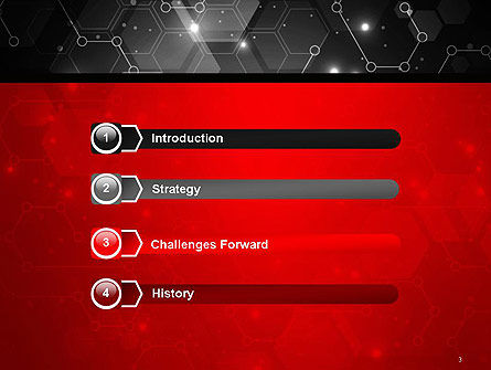 Hexagonal Network Abstract PowerPoint Template, Slide 3, 14394, Technology and Science — PoweredTemplate.com