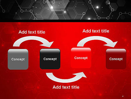Hexagonal Network Abstract PowerPoint Template, Slide 4, 14394, Technology and Science — PoweredTemplate.com