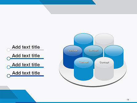 Overlapping Transparent Layers PowerPoint Template Slide 12