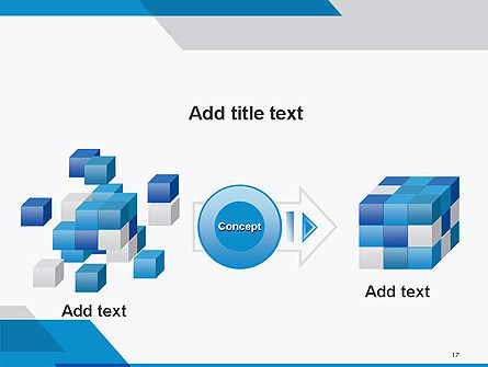 Overlapping Transparent Layers PowerPoint Template Slide 17