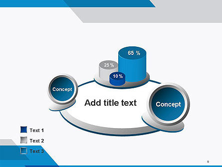 Overlapping Transparent Layers PowerPoint Template Slide 6