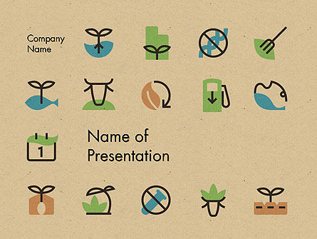 Careers/Industry: Sustainable Food Production PowerPoint Template #14396