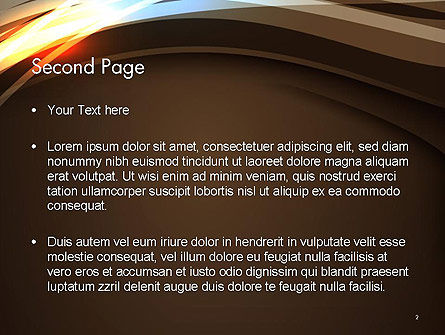 Futuristic Technology Wave Background Abstract PowerPoint Template Slide 2