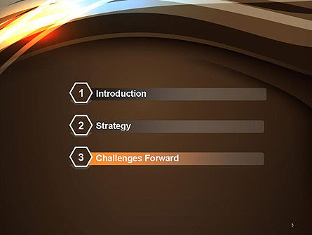 Futuristic Technology Wave Background Abstract PowerPoint Template Slide 3