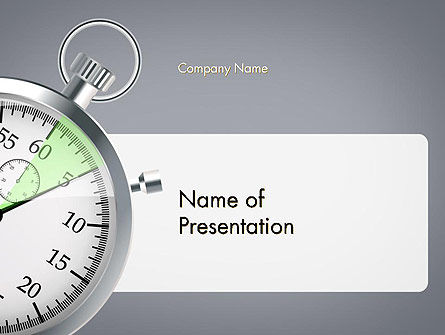 Stopwatch with Five Seconds Period PowerPoint Template, 14398, Business Concepts — PoweredTemplate.com