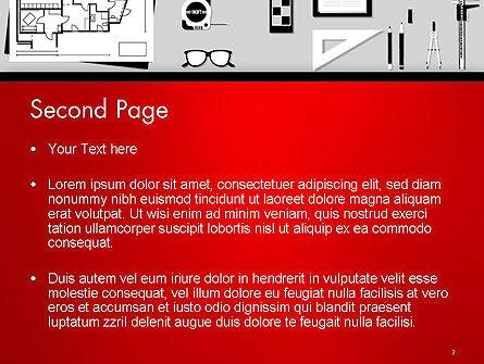 Construction Engineer Desktop PowerPoint Template, Slide 2, 14399, Construction — PoweredTemplate.com