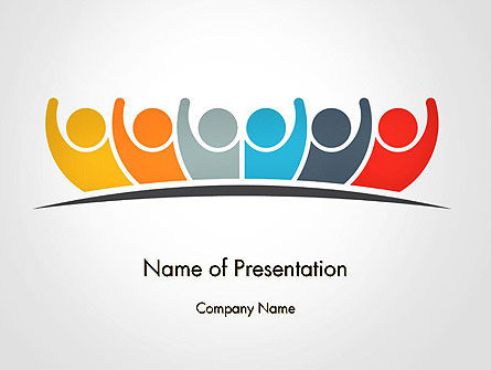 Teamwork Six Friends PowerPoint Template, Backgrounds | 14400 ...