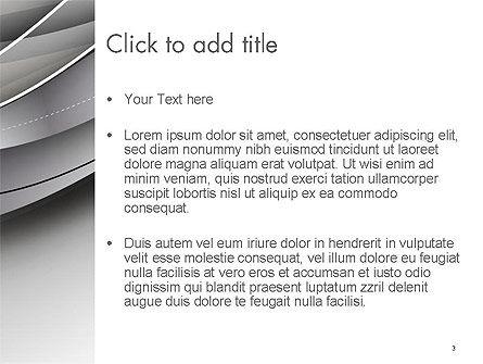Elegant Waves Background PowerPoint Template, Slide 3, 14401, Abstract/Textures — PoweredTemplate.com