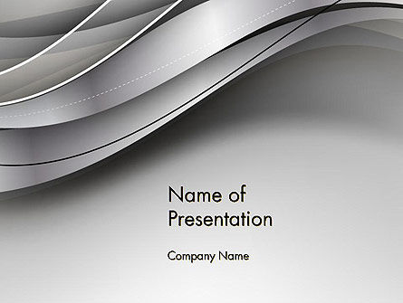 Abstract/Textures: Elegant Waves Background PowerPoint Template #14401