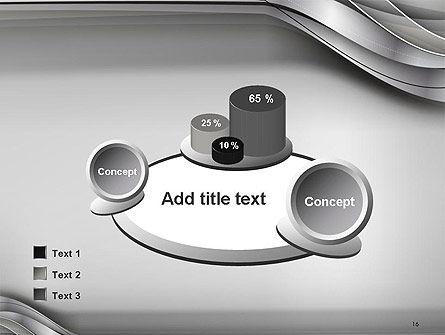 Elegant Waves Background PowerPoint Template Slide 16