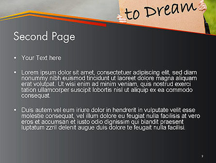 Young Tourist Hitchhiking Along a Road with Message Board PowerPoint Template, Slide 2, 14402, Business Concepts — PoweredTemplate.com
