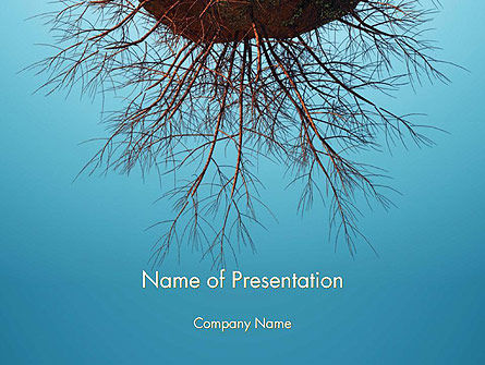 Plant Roots PowerPoint Template, 14403, Agriculture — PoweredTemplate.com
