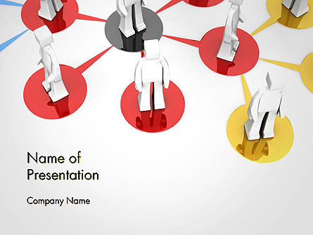 Multi Level Business Network PowerPoint Template, 14404, 3D — PoweredTemplate.com