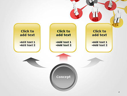 Multi Level Business Network PowerPoint Template, Slide 4, 14404, 3D — PoweredTemplate.com