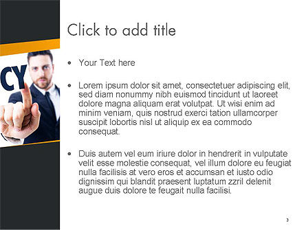 Businessman Pointing the Text Bankruptcy PowerPoint Template, Slide 3, 14405, Financial/Accounting — PoweredTemplate.com