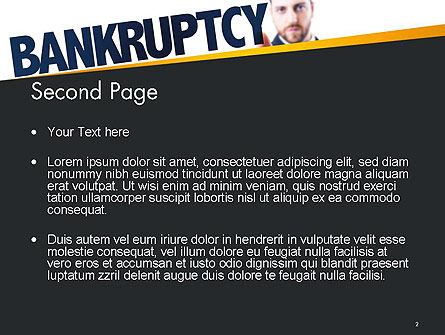 Businessman Pointing the Text Bankruptcy PowerPoint Template, Slide 2, 14405, Financial/Accounting — PoweredTemplate.com