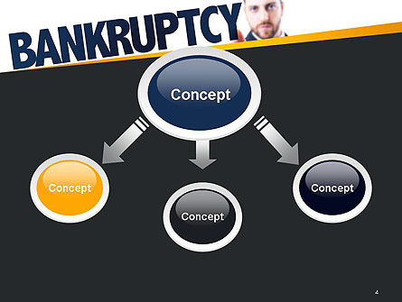 Businessman Pointing the Text Bankruptcy PowerPoint Template, Slide 4, 14405, Financial/Accounting — PoweredTemplate.com
