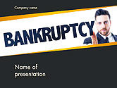 Financial/Accounting: Businessman Pointing the Text Bankruptcy PowerPoint Template #14405