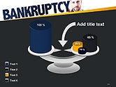 Businessman Pointing the Text Bankruptcy PowerPoint Template#10