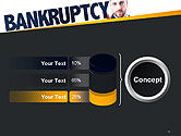 Businessman Pointing the Text Bankruptcy PowerPoint Template#11