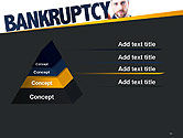Businessman Pointing the Text Bankruptcy PowerPoint Template#12