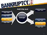 Businessman Pointing the Text Bankruptcy PowerPoint Template#14