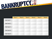 Businessman Pointing the Text Bankruptcy PowerPoint Template#15