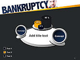 Businessman Pointing the Text Bankruptcy PowerPoint Template#16