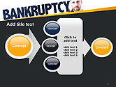 Businessman Pointing the Text Bankruptcy PowerPoint Template#17
