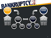 Businessman Pointing the Text Bankruptcy PowerPoint Template#19
