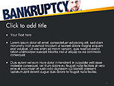 Businessman Pointing the Text Bankruptcy PowerPoint Template#2