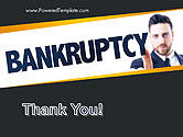 Businessman Pointing the Text Bankruptcy PowerPoint Template#20