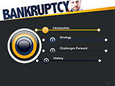 Businessman Pointing the Text Bankruptcy PowerPoint Template#3