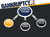 Businessman Pointing the Text Bankruptcy PowerPoint Template#4