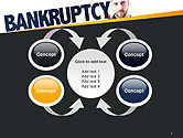 Businessman Pointing the Text Bankruptcy PowerPoint Template#6