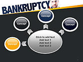 Businessman Pointing the Text Bankruptcy PowerPoint Template#7